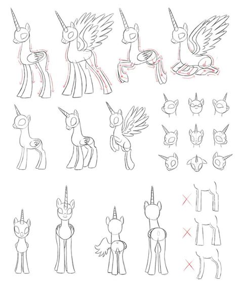 how to draw an alicorn princess from my little pony mlp draw alicorn by pennygu how to draw mlp pinterest