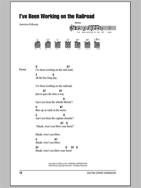 printable lyrics to i ve been working on the railroad i ve been working on the railroad by american folk song