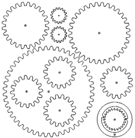 2d Blueprint Software Free gears and clocks