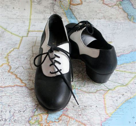 Vintage Swing Dance Shoes Black And White Shoes Size 9