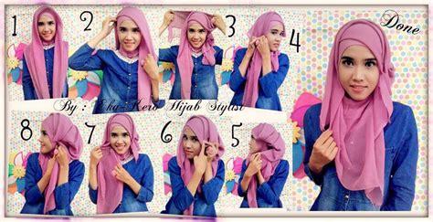 tutorial jilbab paris segi empat simple dan cantik tutorial jilbab segi empat simple dan cantik