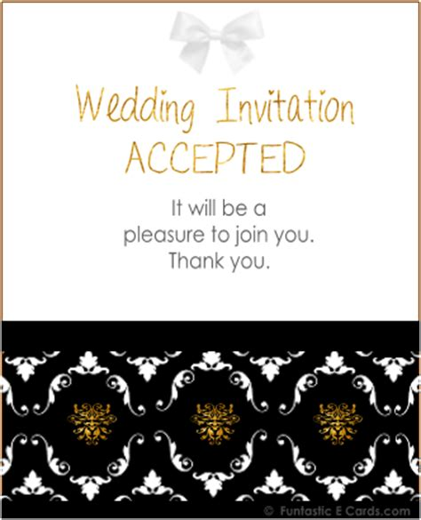 free wedding acceptance card template free animated all occasion e acceptance cards engagement
