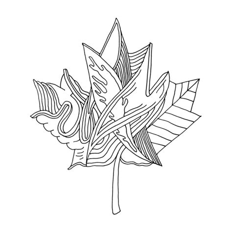 abstract leaf coloring pages canadian maple leaf colouring page with abstract drawing