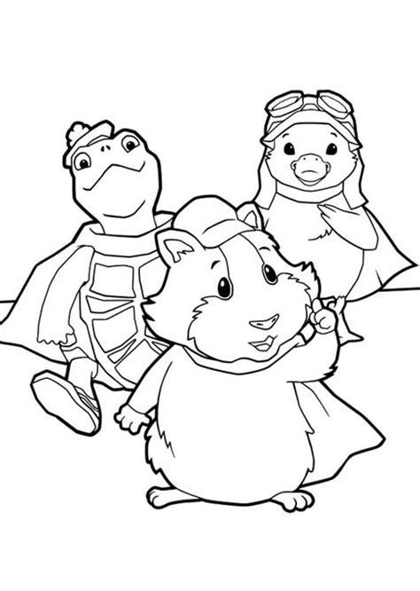 pin coloring pages wonder pets 001 12 others free