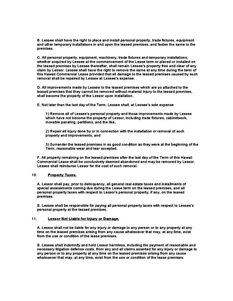 Hawaii Commercial Lease Agreement Template Free Download Free Rental Agreement Template Hawaii
