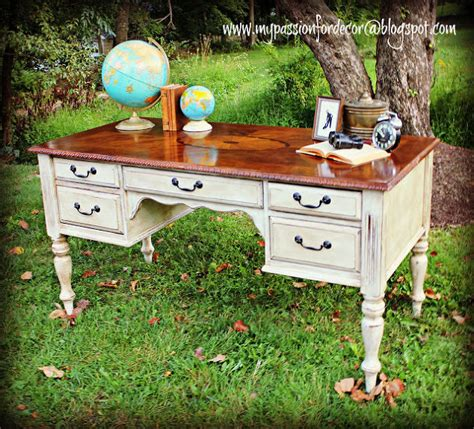 desk makeover with chalk paint 174 by annie sloan in old