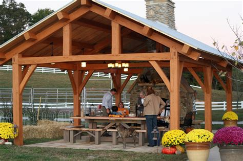 how to build a backyard pavilion cypress timber frame pavilion in tennessee rustic