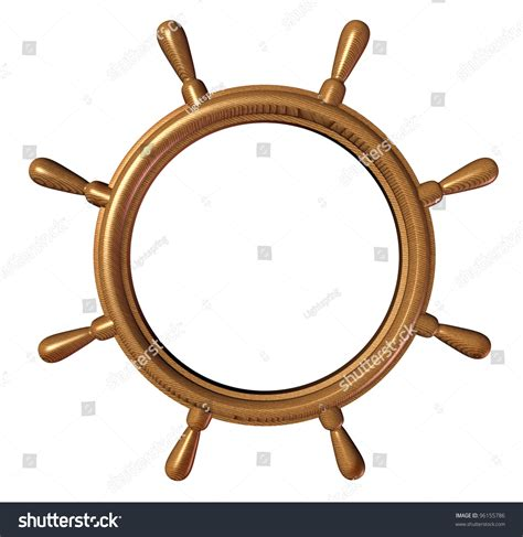 nautical directions on a boat ship wheel design element with a blank editable center as