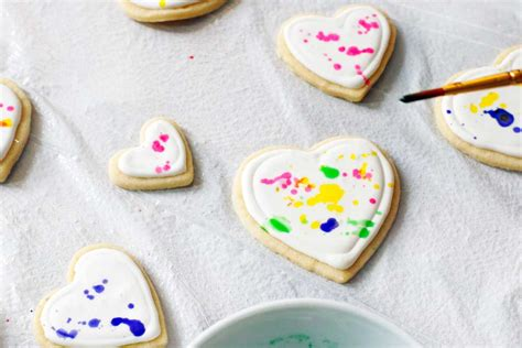 colorful splatter paint cookies a side of sweet