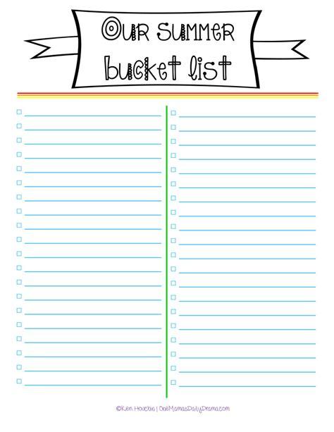 summer bucket list 2014 template www imgkid com the