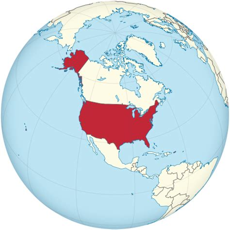 globe map of usa file united states on the globe america centered