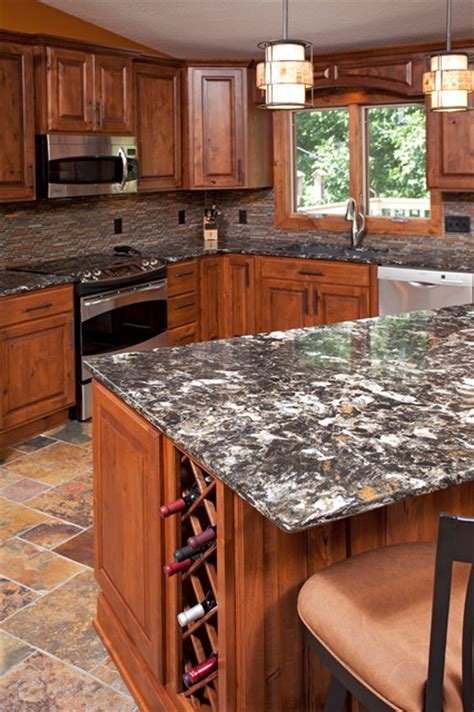 eagan alder kitchen rustic kitchen countertops