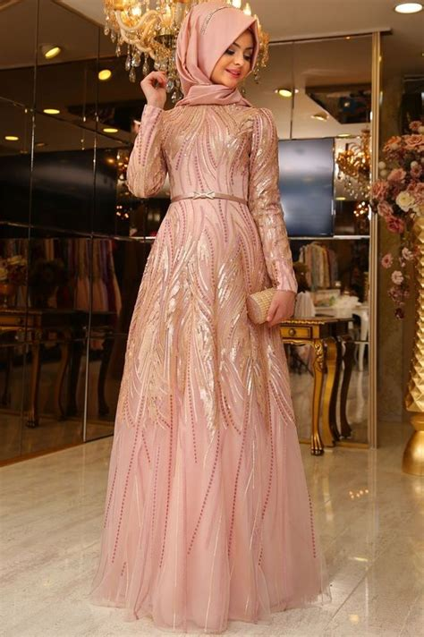 Baju Gaun Bahan Brukat Kombinasi Tile Ikat Pinggang Mutiara aneka model gaun pesta brokat mewah untuk wanita berhijab