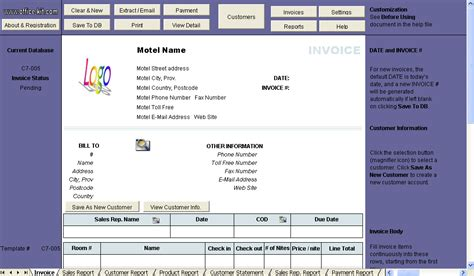 hotel invoice template all categories getracker
