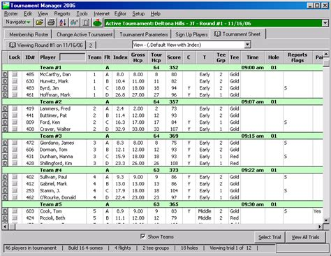 Tournament Spreadsheet Template by Golf Tournament Score Sheets Free