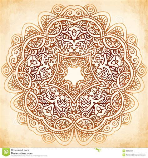 henna tattoo background ornate vintage vector background in mehndi style royalty