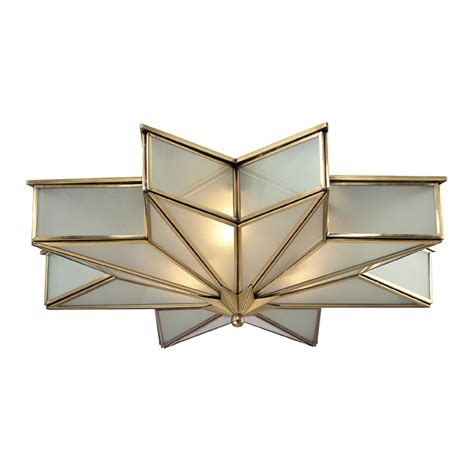 Brass Light Fixtures Ceiling Elk 22011 3 Decostar Contemporary Brushed Brass Ceiling Light Fixture Elk 22011 3
