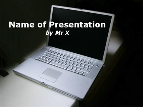 computer templates for powerpoint computer image a black background powerpoint template