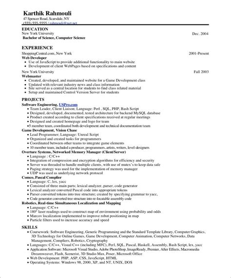 Resume Templates Volunteer Work by Programmer Free Resume Sles Blue Sky Resumes