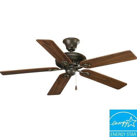 Progress Lighting Ceiling Fans Progress Lighting Airpro Signature 52 In Forged Bronze Ceiling Fan P2521 77 The Home Depot