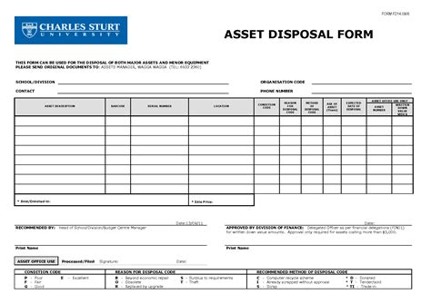 Asset Transfer Request Letter 9 Best Images Of Transfer And Asset Disposal Form Fixed Asset Disposal Form Template Fixed