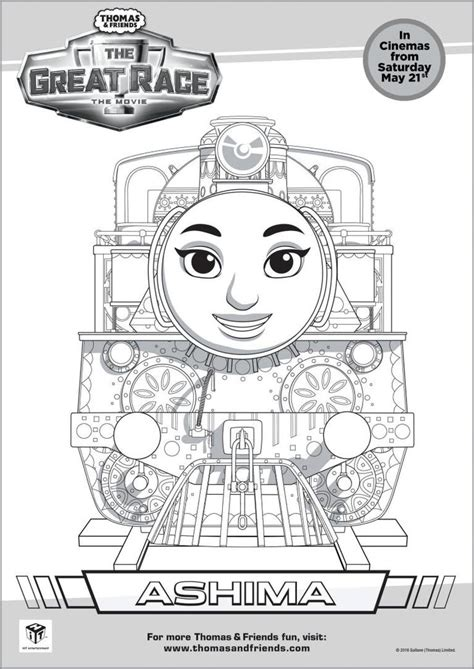 thomas friends the great race colouring pages friends