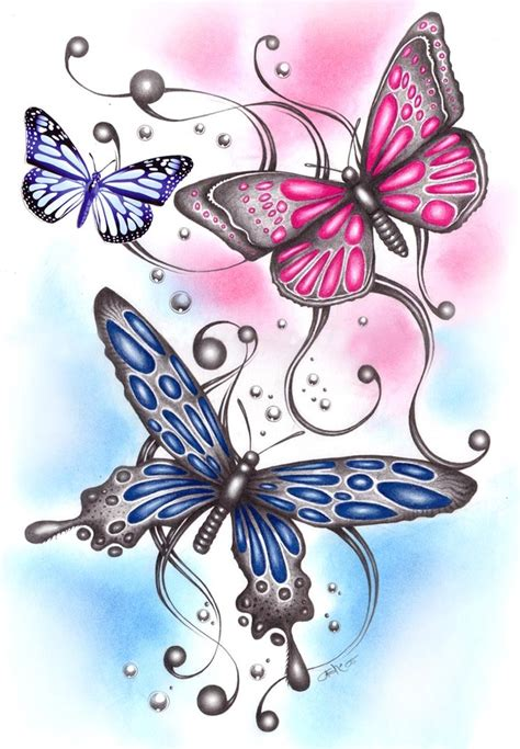 images of butterfly tattoo designs 3 butterflies designs tattooshunt