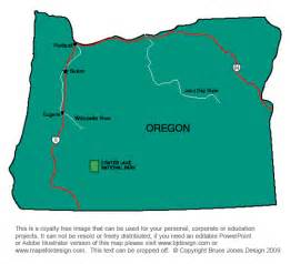 Oregon Us Map by Oregon Capital Map