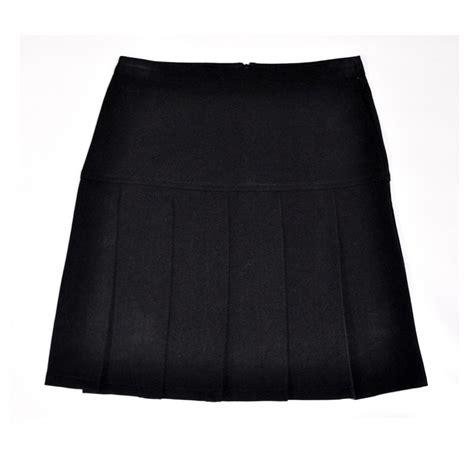 box pleat black skirt charleston stitch tech
