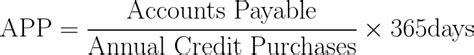 Credit Payment Period Formula Average Payment Period App