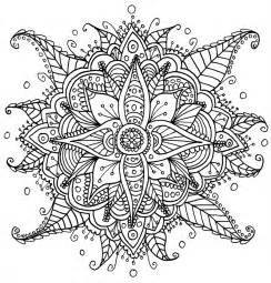 Galerry flower coloring pages pattern