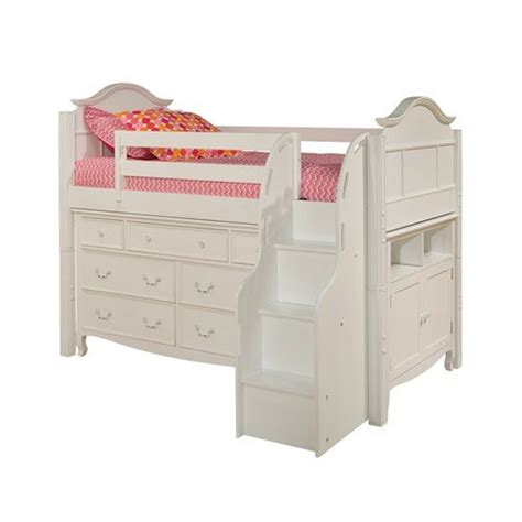 low loft bed with storage bolton furniture 9881500ls8320msb emma low loft storage