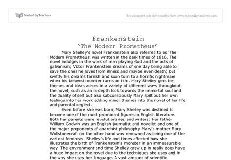 frankenstein research paper thesis statement for frankenstein research paper essay