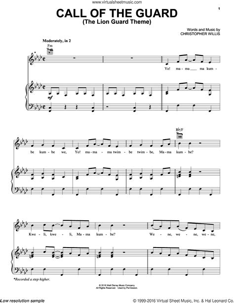 theme music call the midwife willis call of the guard the lion guard theme sheet