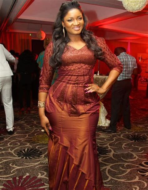 omotla nigerian styles with lace dresses omotola jalade ekeinde omotola jalade ekeinde