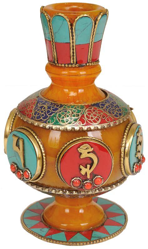 Buddhist Vase by Tibetan Buddhist Sacred Buddhist Vase
