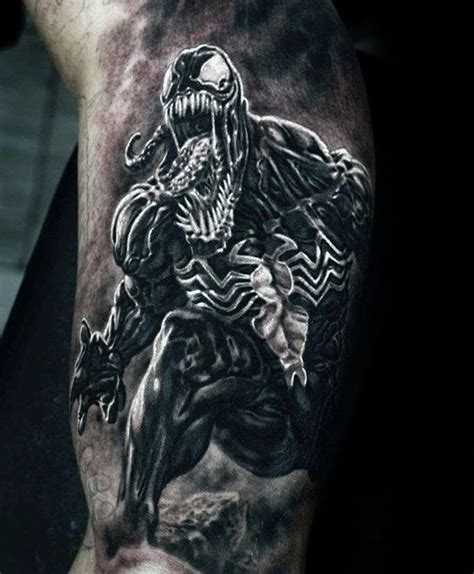 venom ink tattoo 60 venom designs for marvel ink ideas