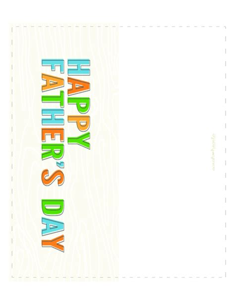 Fathers Day Card Template Pdf by S Day Greeting Card Sle Free