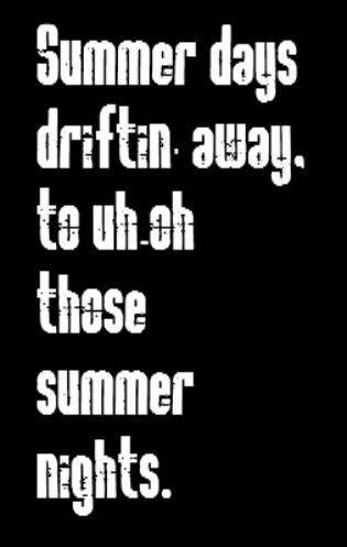 grease summer nights song lyrics  lyrics songs song quotes  quotes song