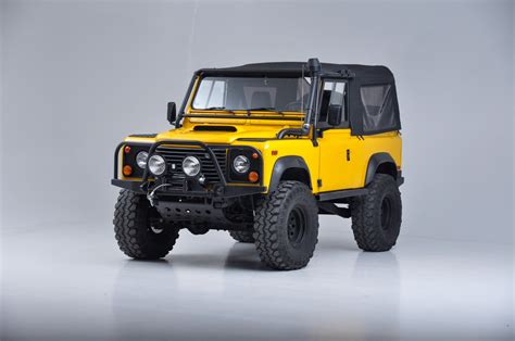 land rover defender 90 yellow 1997 land rover defender 90 90 stock 1997110 for sale