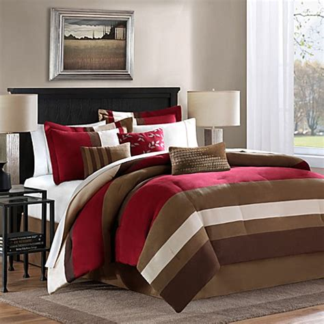 bed bath and beyond bedding sets loreto 6 7 piece comforter set in red bed bath beyond