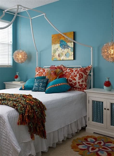 teal and orange bedroom ideas orange and teal home decor ideas pinterest