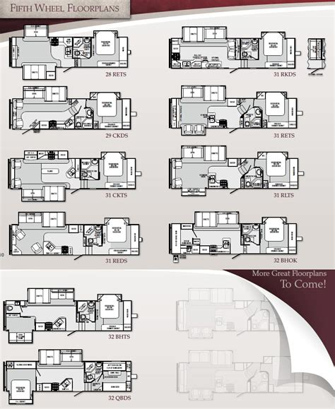 Cougar Trailers Floor Plans by Winnebago Fifth Wheel Floor Plans Winnebago Fifth Wheel