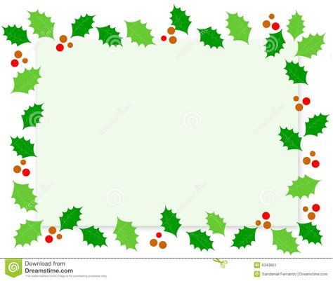 Christmas Border Holly Stock Image Image 6343861 Where To Print Color Documents L