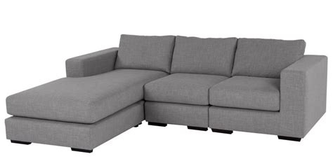 l shaped grey sofa emilio l shape sofa in light grey colour by furny by furny