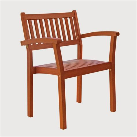 Outdoor Dining Chairs Lowes Shop Vifah Eucalyptus Stackable Patio Dining Chair At