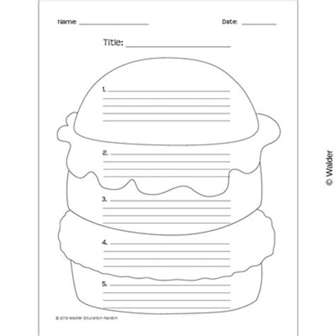 hamburger template printable opinion writing graphic organizer quotes