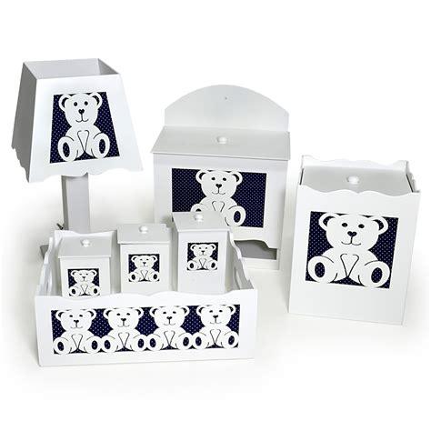 como decorar kit higiene em mdf kit higiene beb 234 ursinho decorado azul poa 7 p 231 s mdf