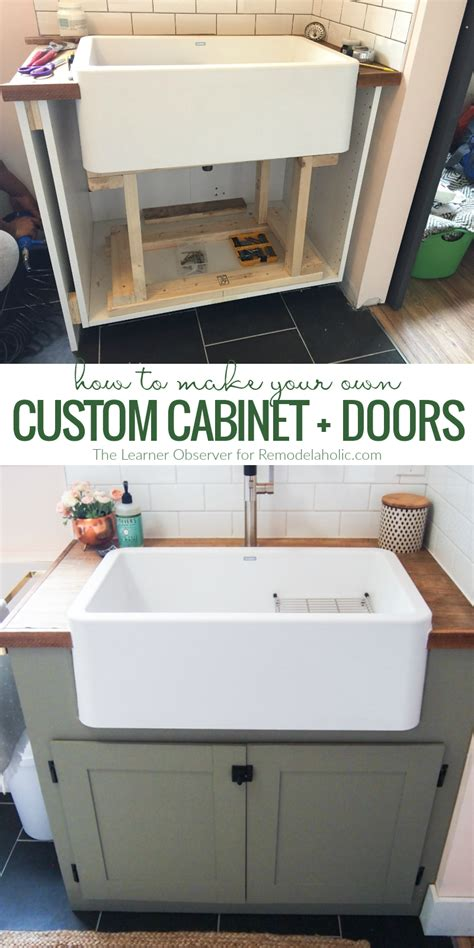 how to build custom cabinets how to make inexpensive diy custom doors the