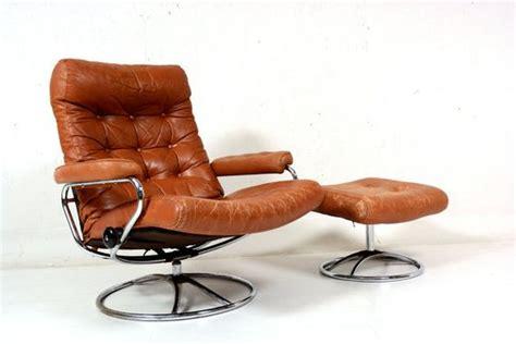 Vintage Ekornes Recliner by Vintage 70 S Chrome Ekornes Stressless Recliner Lounge